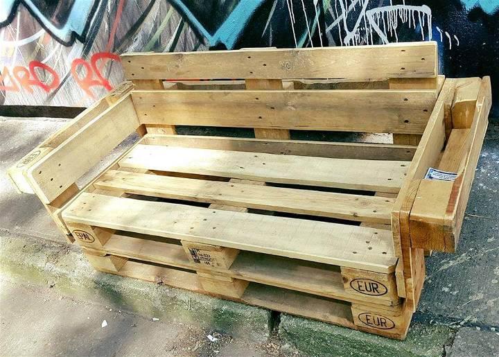 robust wooden pallet garden bench