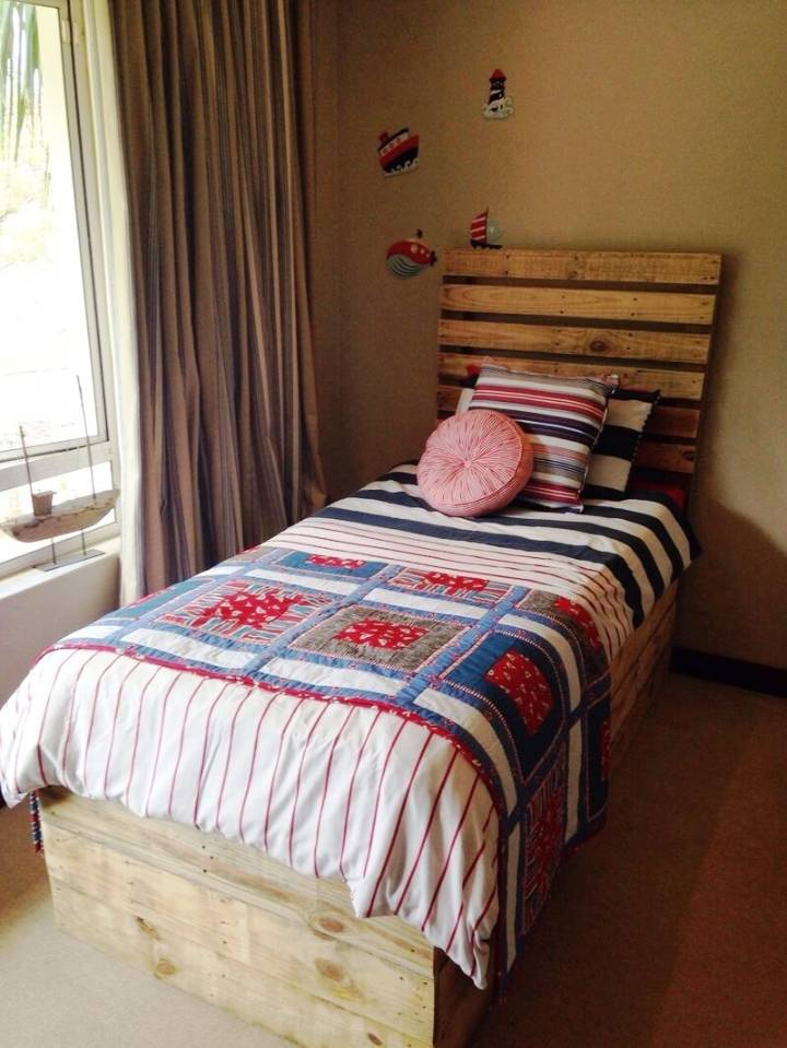 handcrafted pallet toddler bed