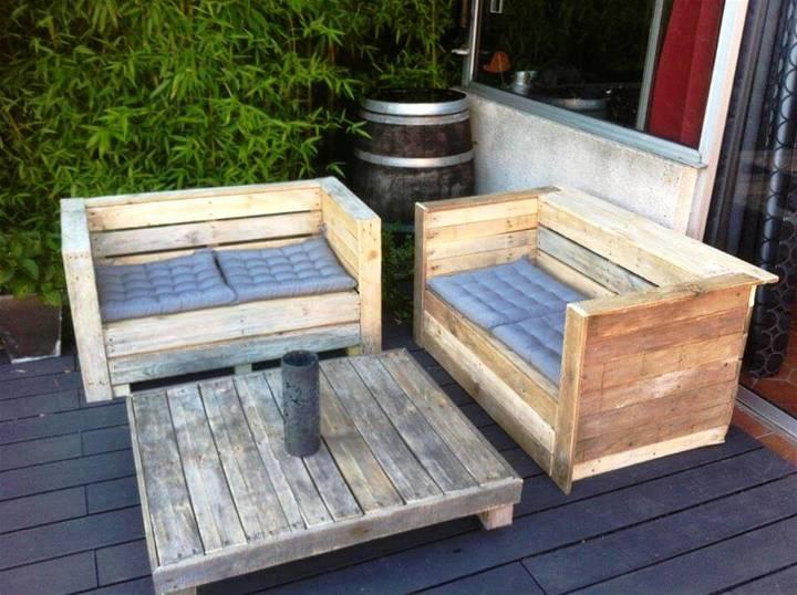 pallet patio sitting set
