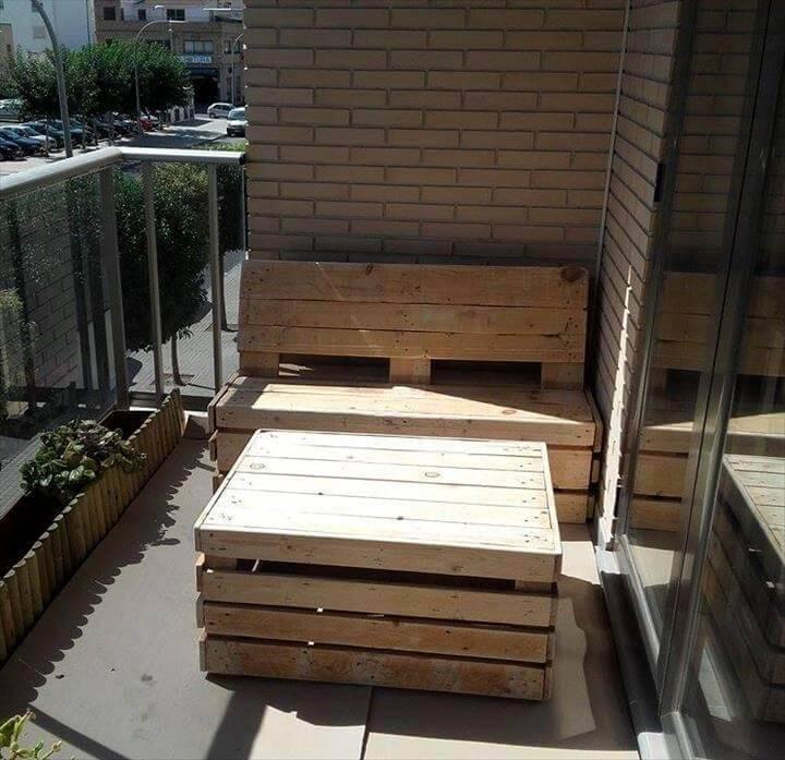 diy wooden pallet patio sitting set