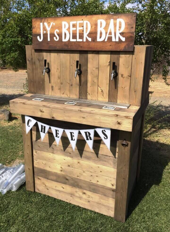 custom wooden pallet outdoor beer bar