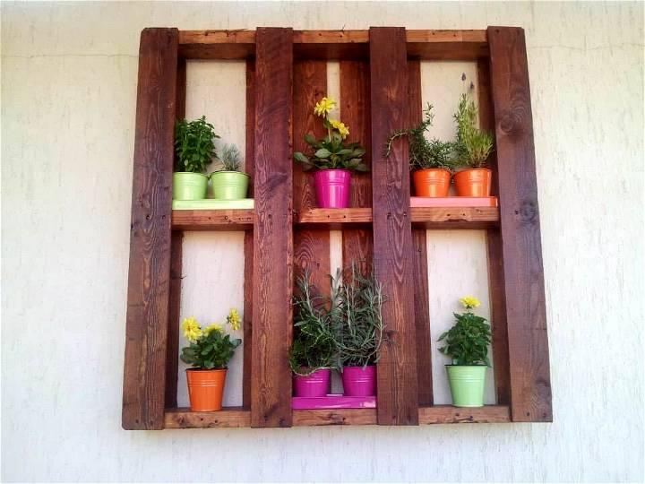 wooden pallet wall hanging pot organizer