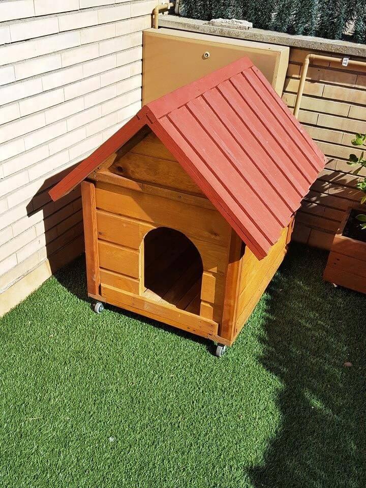diy wooden pallet dog kennel