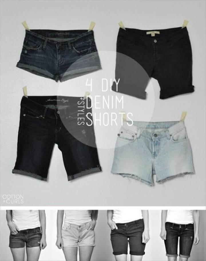 4 DIy smart denim shorts styles