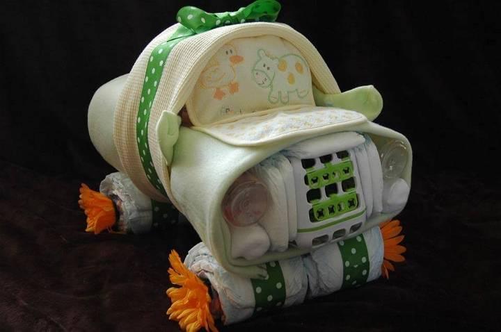 handsome car diaper cake