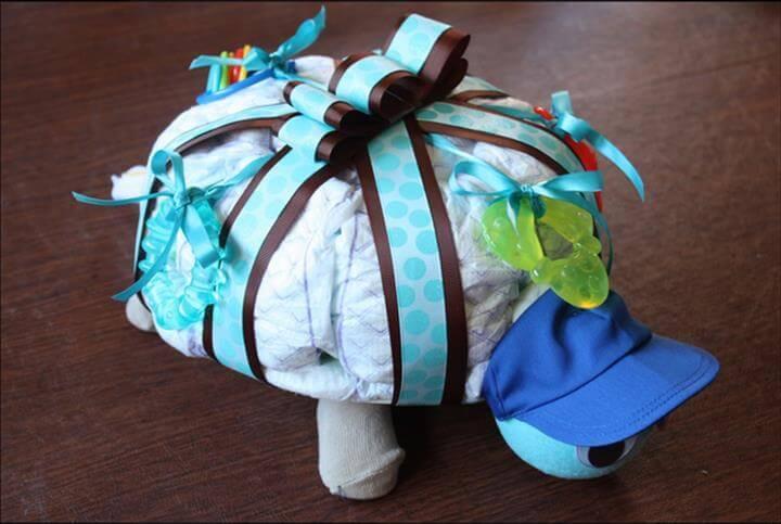 turtle diaper cake