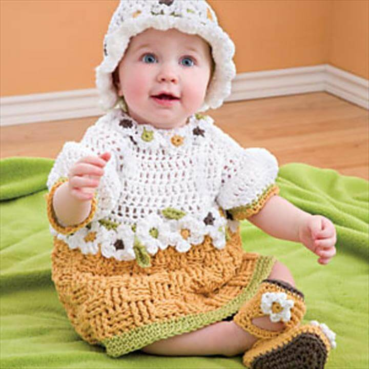 easy crochet basket weave baby set