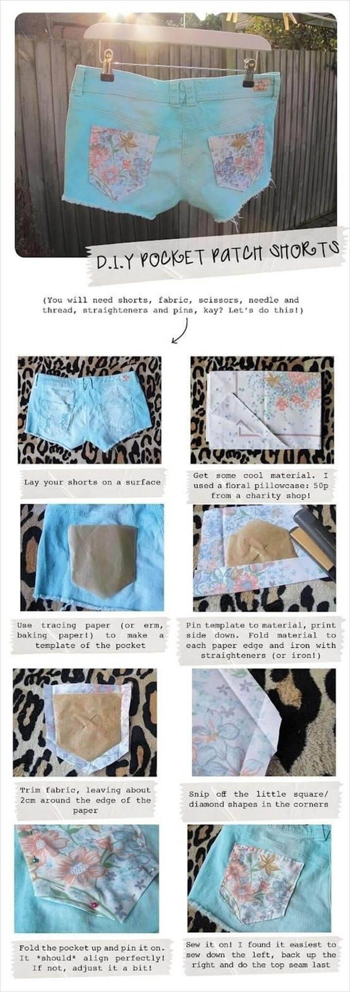 beautiful pocket patch summer shorts