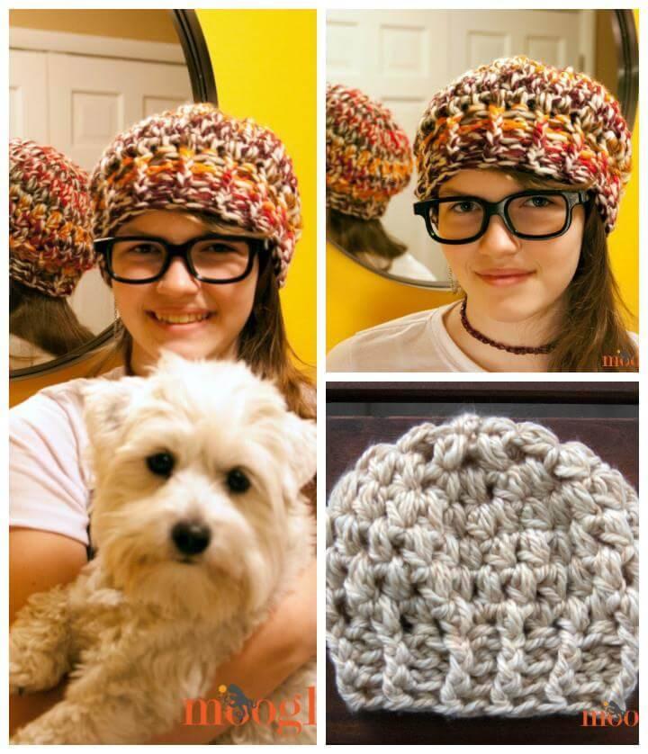 free crochet buffi beanie