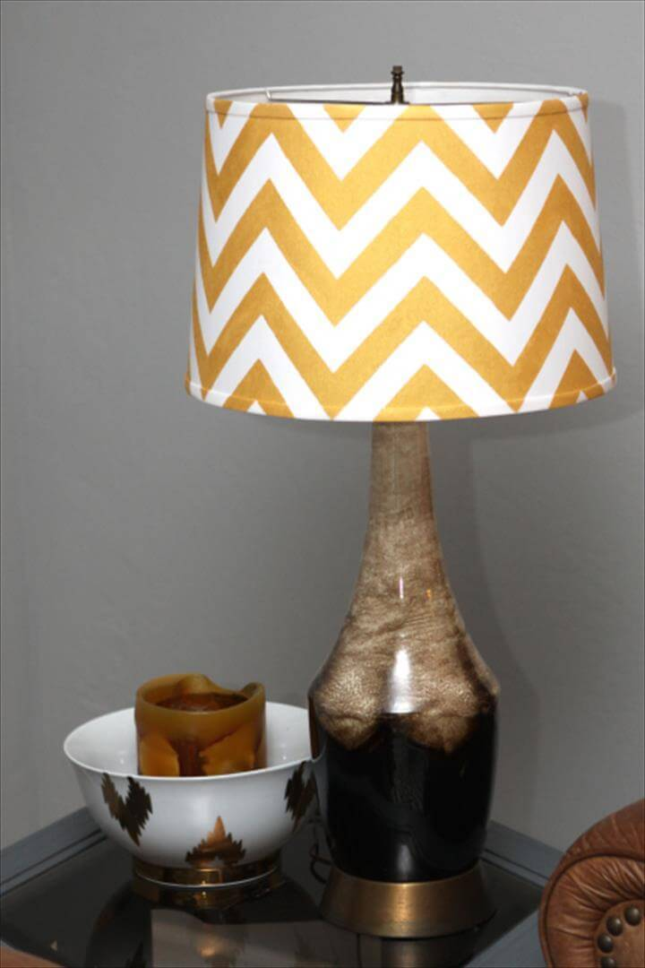 DIY chevron lampshade