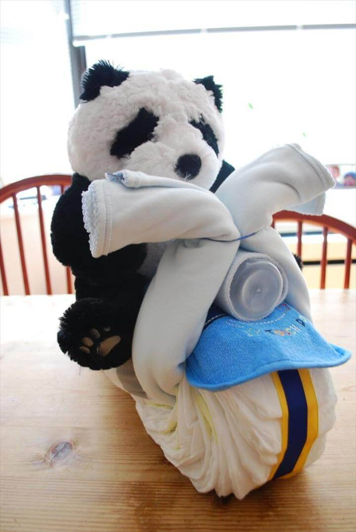 panda chopper diaper cake