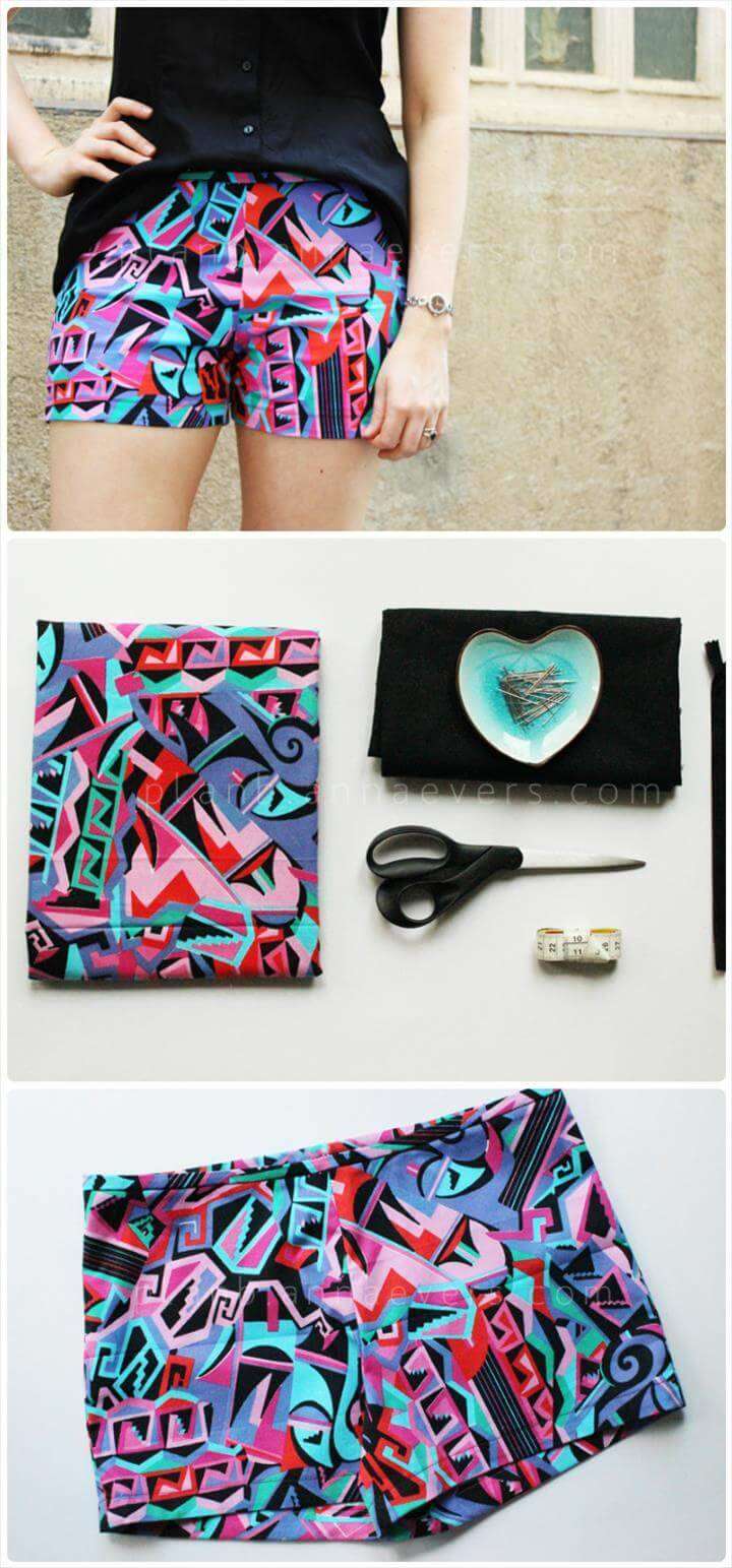 fun color DIY summer shorts