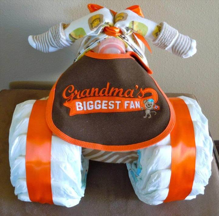 cool tricycle diaper cake