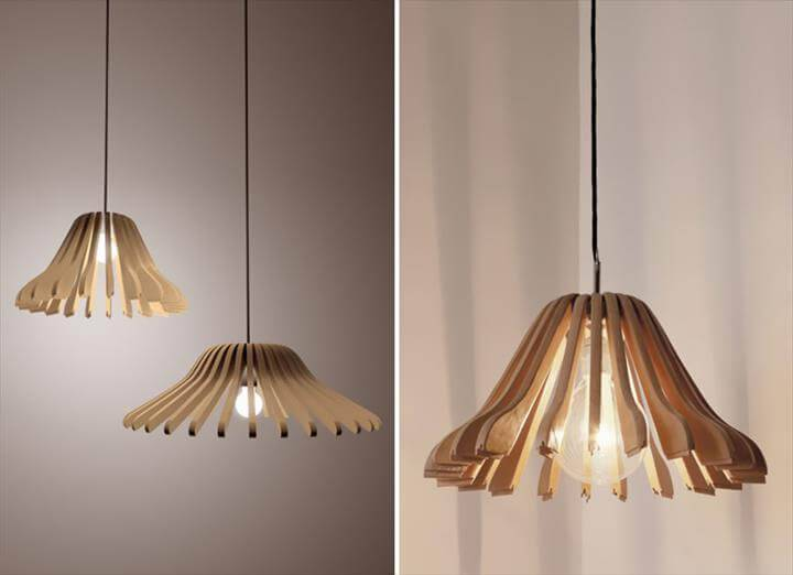 pendant lampshades made of hangers