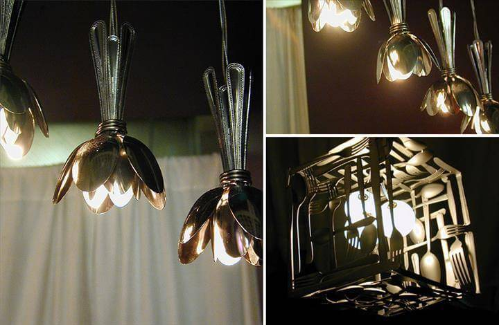 spoon light and lampshade ideas