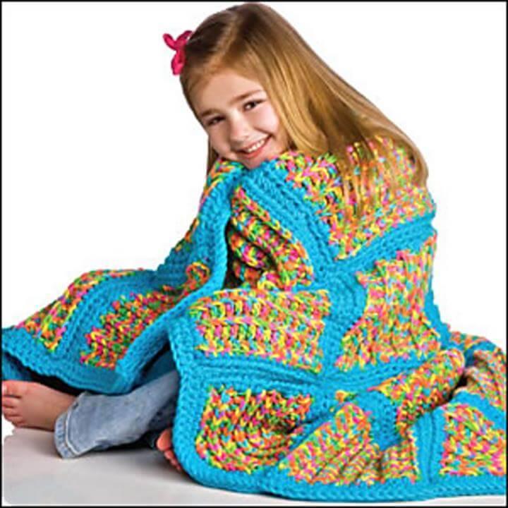 free crochet kids blanket pattern