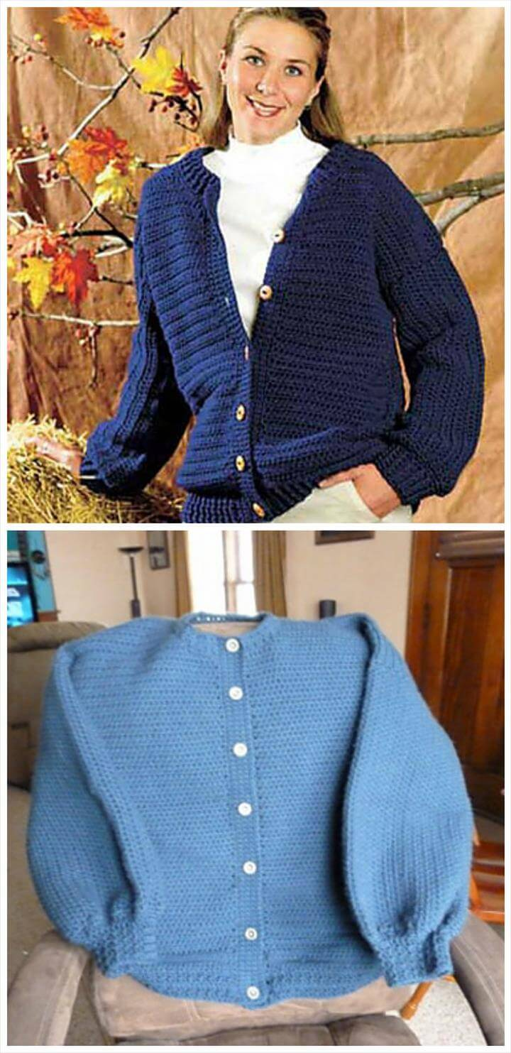 easy crochet cardigan pattern