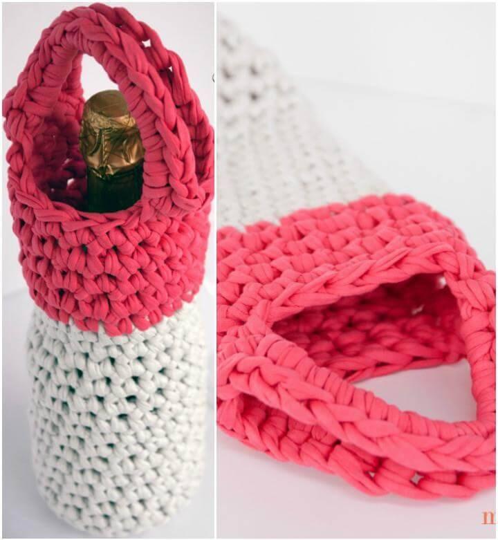crochet beverage bottle night out carrier for girls