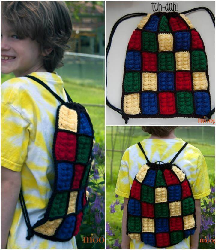 easy crochet kids backpack pattern
