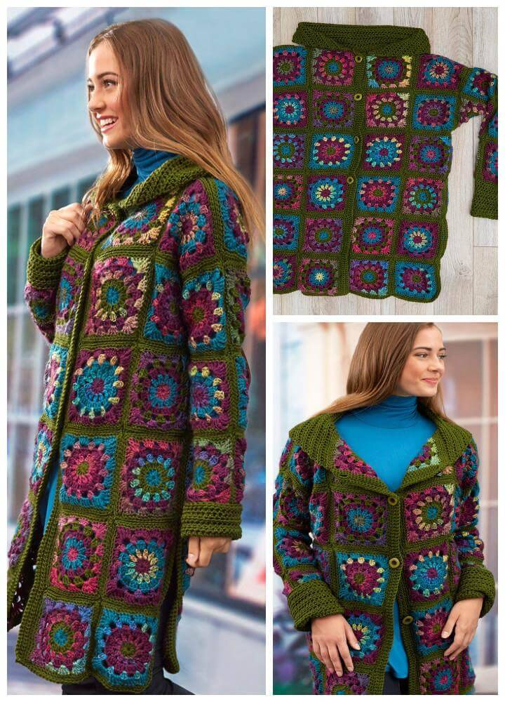 easy crochet sweater coat pattern