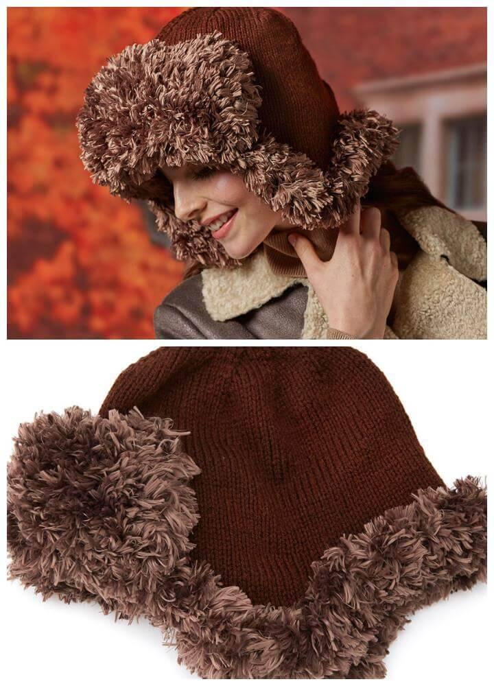 easy crochet aviator hat pattern