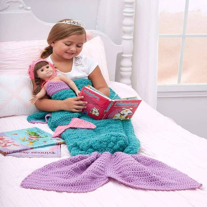 Fancy kids mermaid blanket