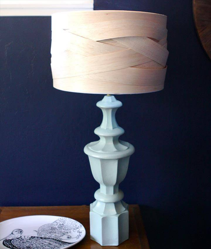 unique balsa wood lampshade