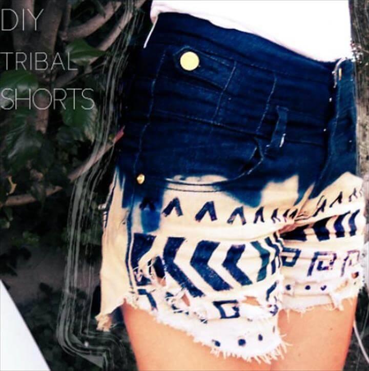 DIY tribal shorts for girls