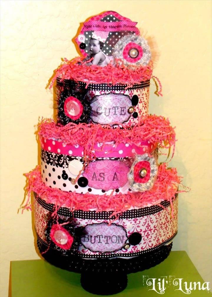 eye-captivating paper diaper cake