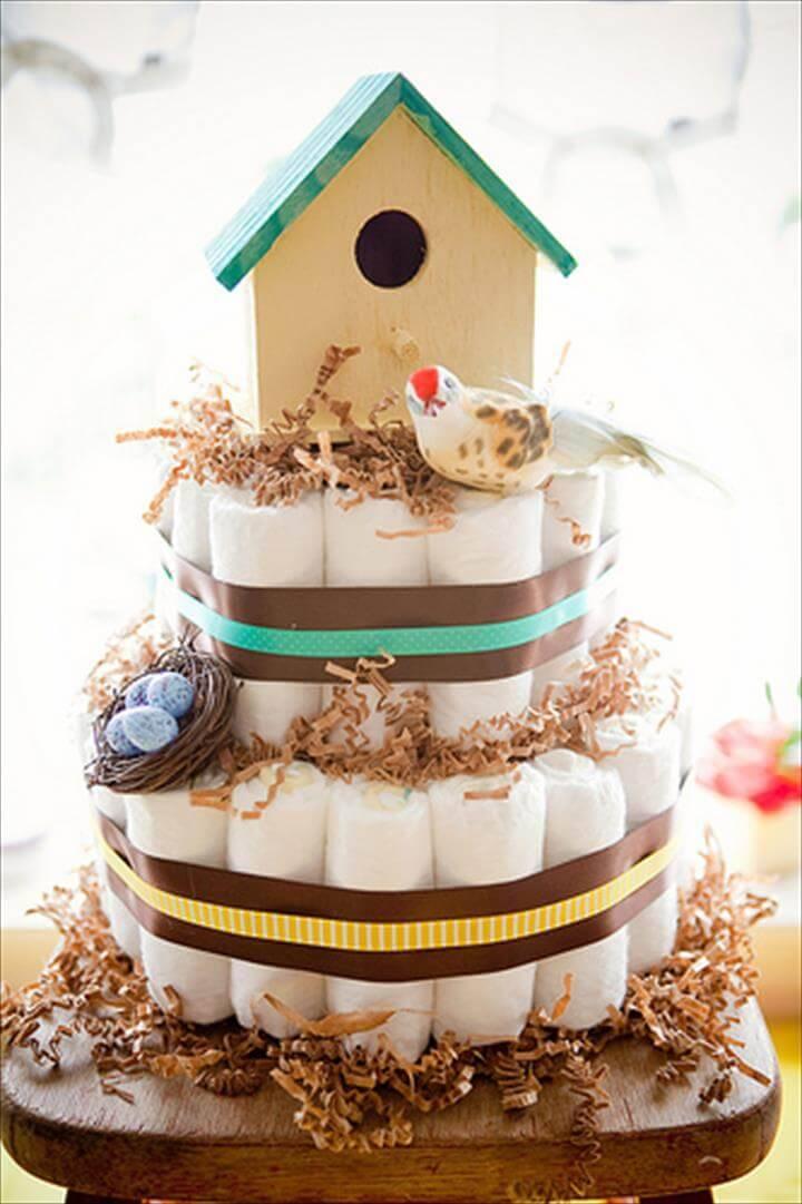Birdcage Diaper Cake