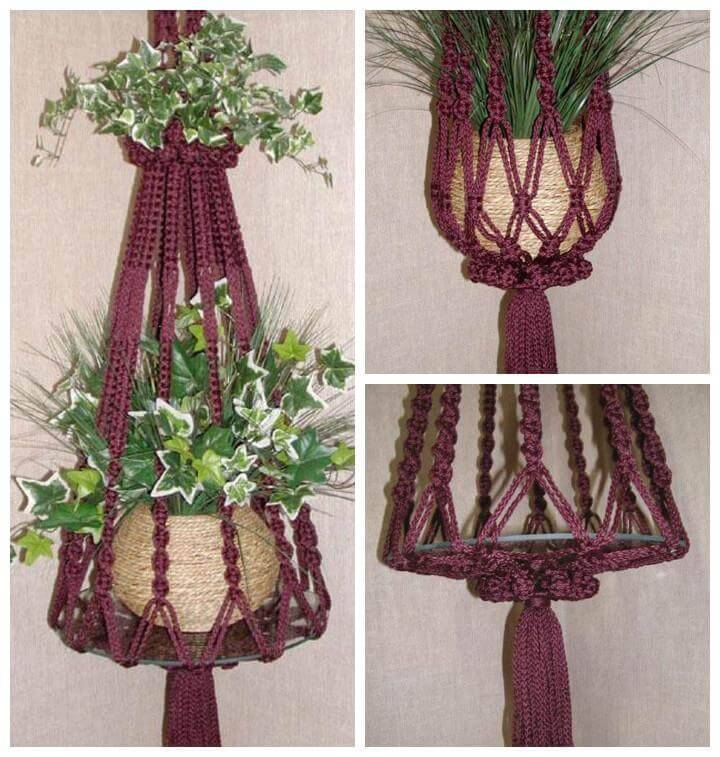 image about Free Printable Macrame Plant Hanger Patterns called 25 Do it yourself Plant Hangers with Finish Tutorials ⋆ Do it yourself Crafts