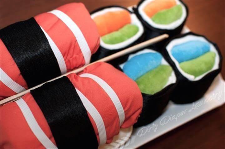 cool cloth diaper sushi platter