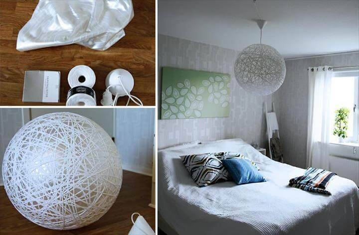 ingenious yarn pendant lamp