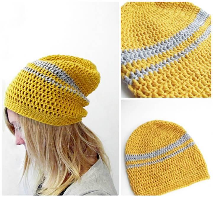 how to crochet a urban slouchy beanie