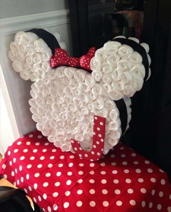 diaper minni mouse cake