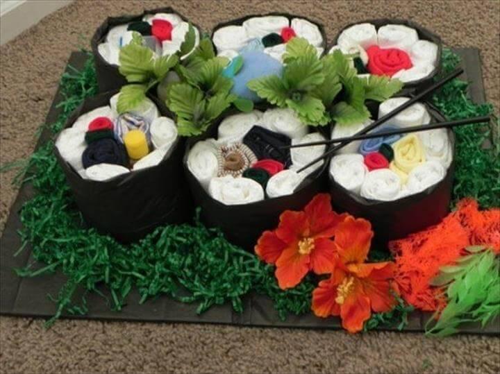 beautiful diaper sushi