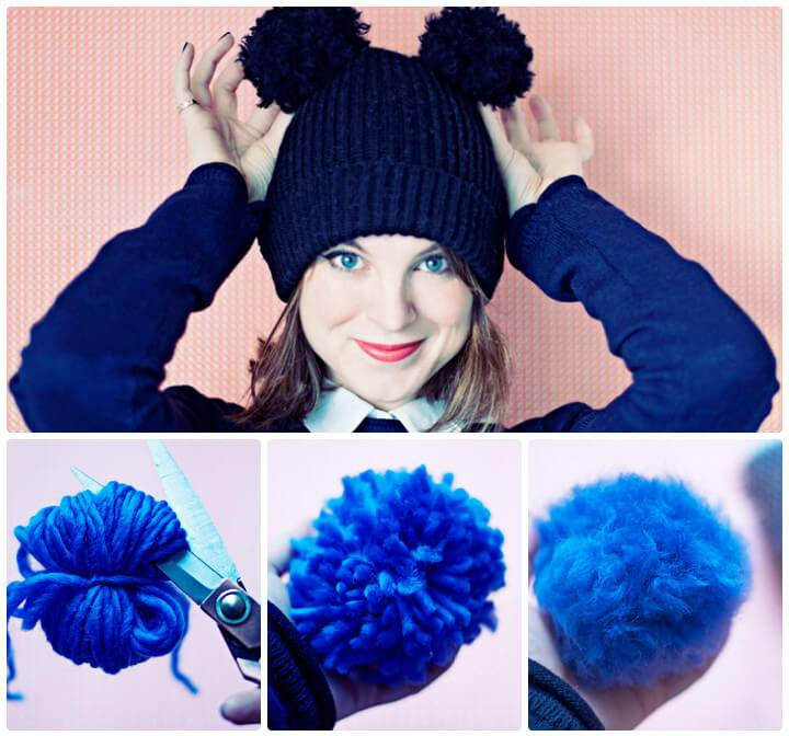 how to make a faux fur pompom