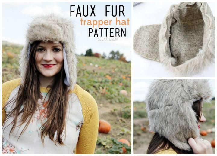 Faux fur hat free pattern