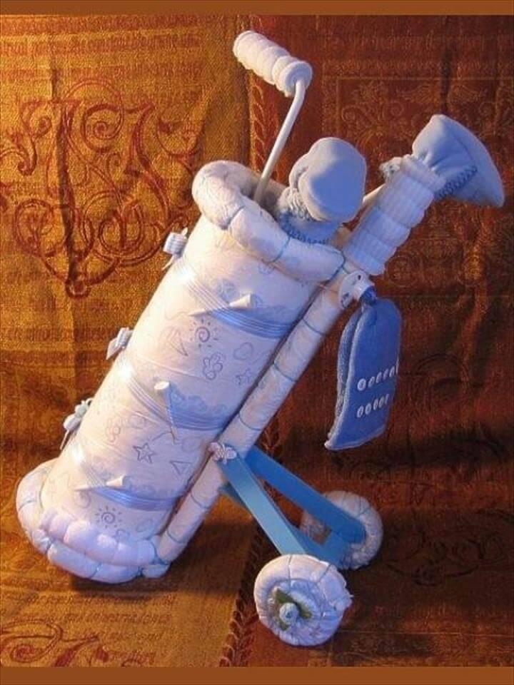 cool golf club diaper cake