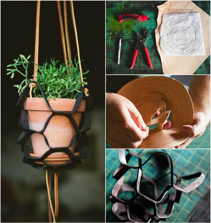 leather plant hanger pattern