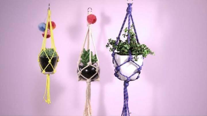easy macrame plant hangers