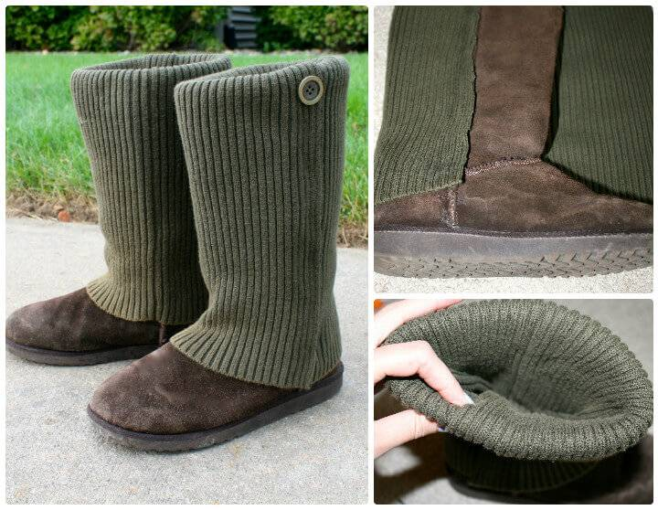DIY no-sew seater boot makeover