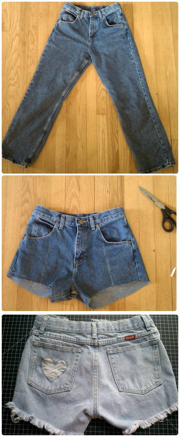 old jean cut-off shorts