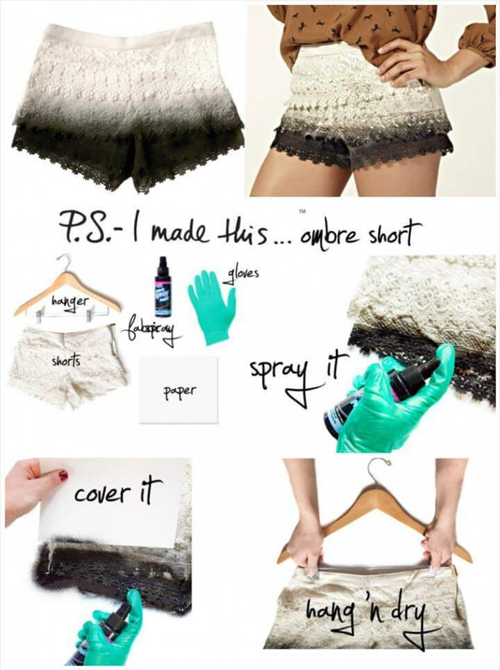 easy ombre summer short tutorial