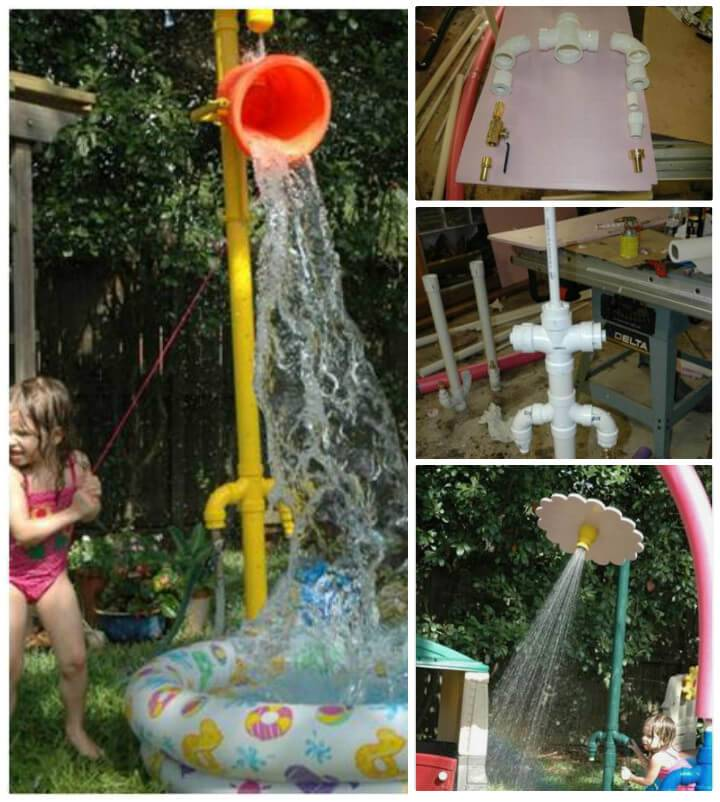 upcycled PVC pipe backyard sprinkler park for kids & 48 DIY Projects out of PVC Pipe You Should Make - DIY u0026 Crafts