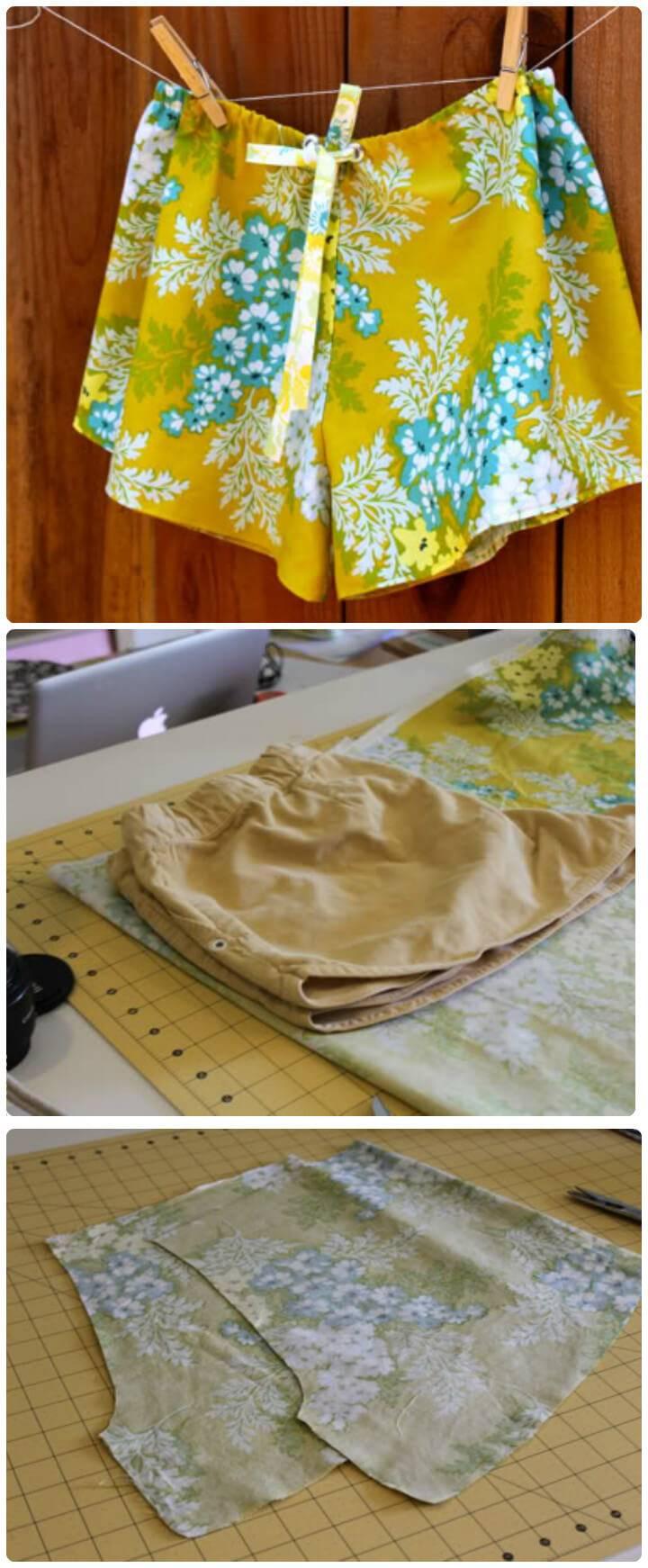 cool DIY sleep shorts