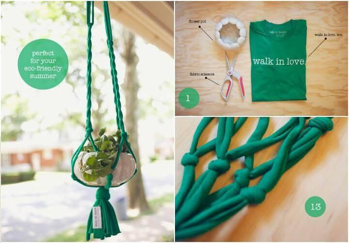 free T-shirt plant hanger pattern