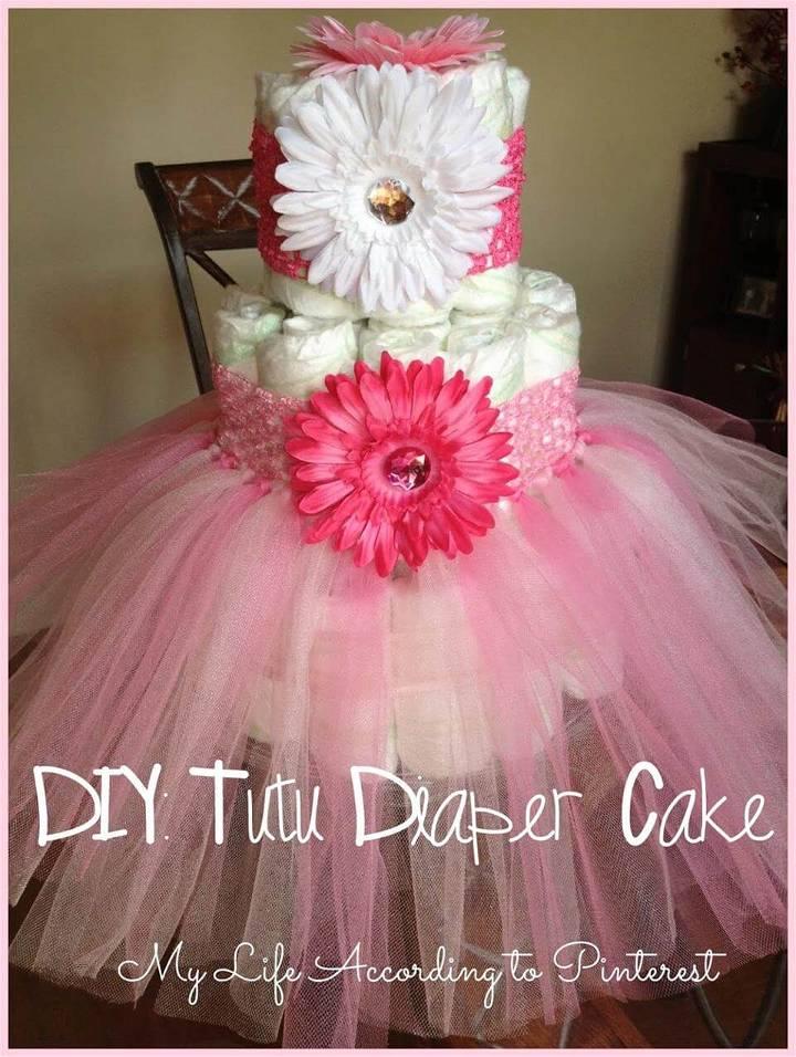lovely tutu diaper cake