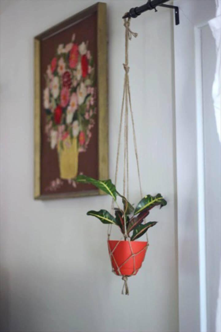 twine macrame plant hanger