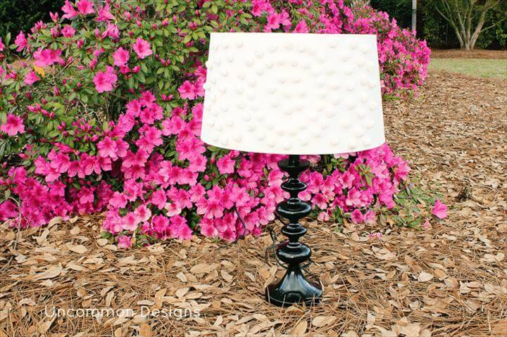 DIY pom-pom lampshade tutorial